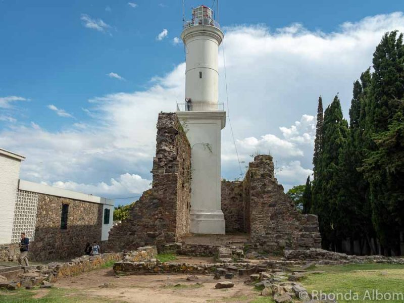 Ruins of Convent de San Francisco in Old Colonia del Sacramento Uruguay.
