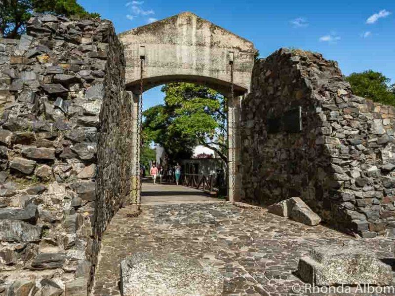 Drawbridge and the city gate in Old Colonia del Sacramento Uruguay