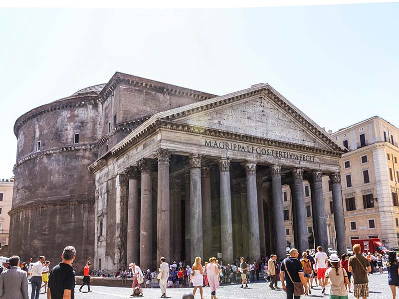 Pantheon in Rome, Italy representing Europe