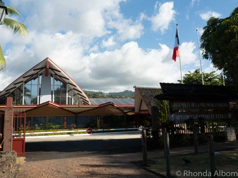 French Polynesia Assembly Building in Papeete, Tahiti