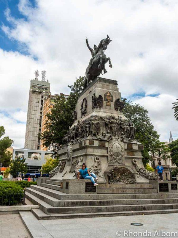 Statue of San Martin in Plaza San Martin in Cordoba Argentina