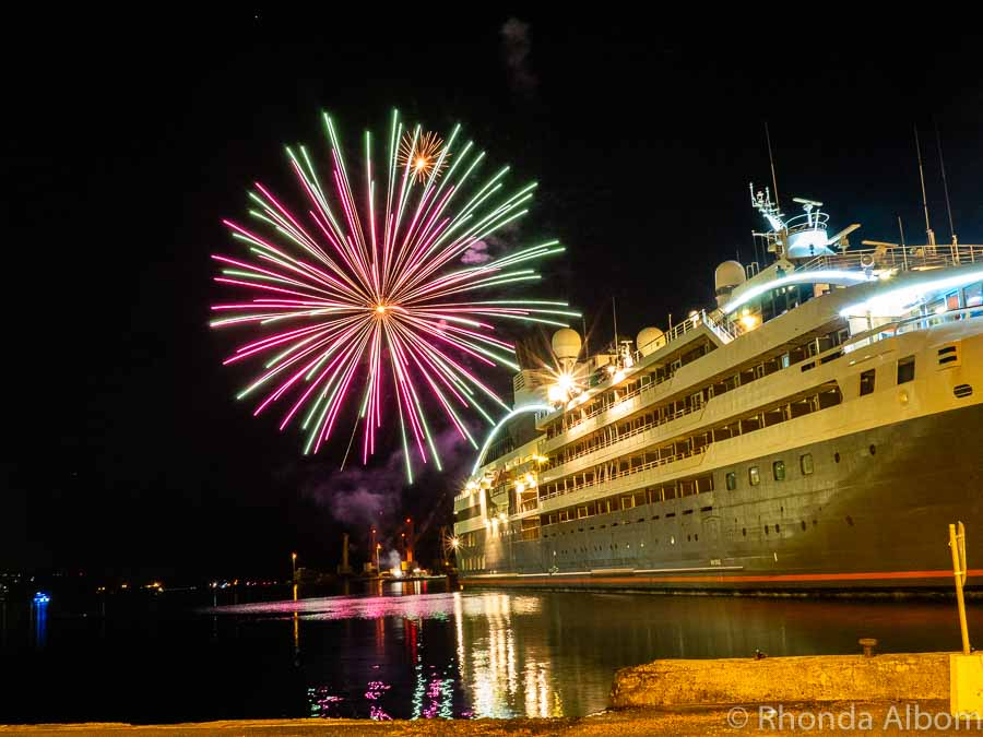 Fireworks in Papeete, Tahiti