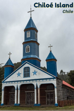 Church of Tenaun in the Village of Tenaun is one of 16 small wooden churches that are world heritage sites on the island of Chiloe in Chile. It's an interesting island also famous for stilted houses and penguins.