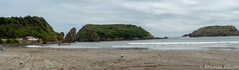 Punihuil beach on the west coast of Chiloe Island.