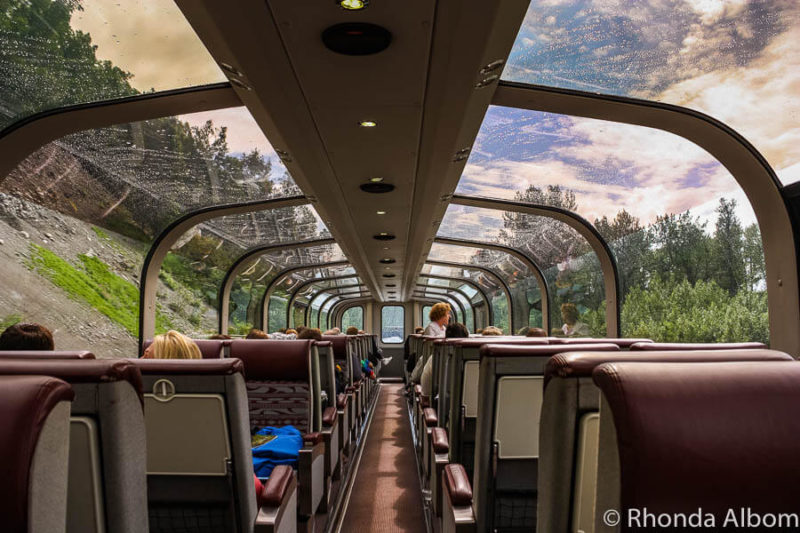 Take the Denali Star train in Alaska on your own or as part of an Alaska cruise and land tour