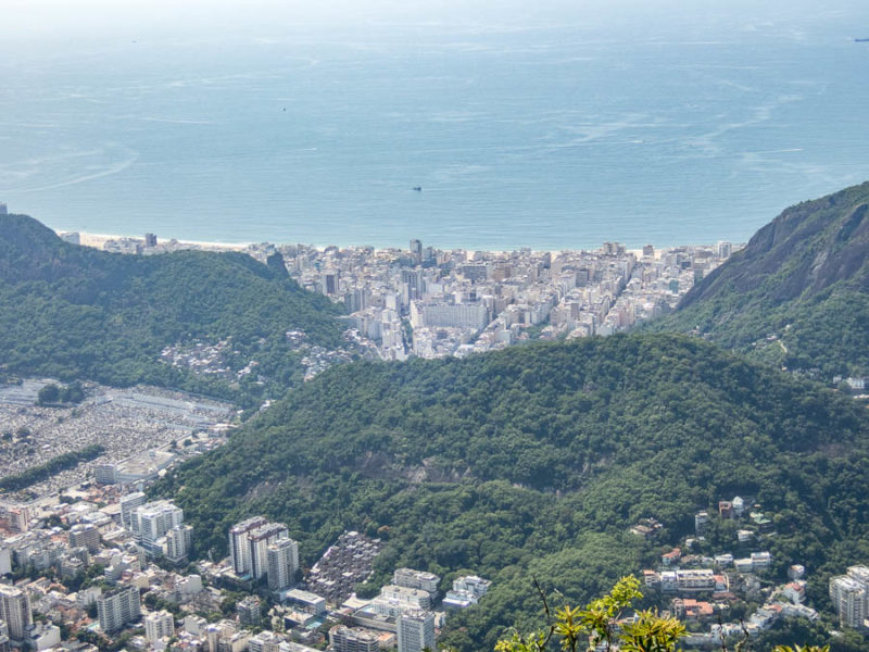 Copacabana beach seen from Corcovado mountain