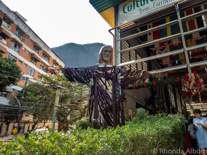 Another modern statue of Christ at the base of Corcovado Mountain in Rio de Janeiro, Brazil