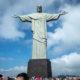 Christ the Redeemer Corcovado Mountain overlooking Rio de Janeiro, Brazil.