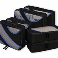 Bagail 6 Set Packing Cubes, 3 Various Sizes