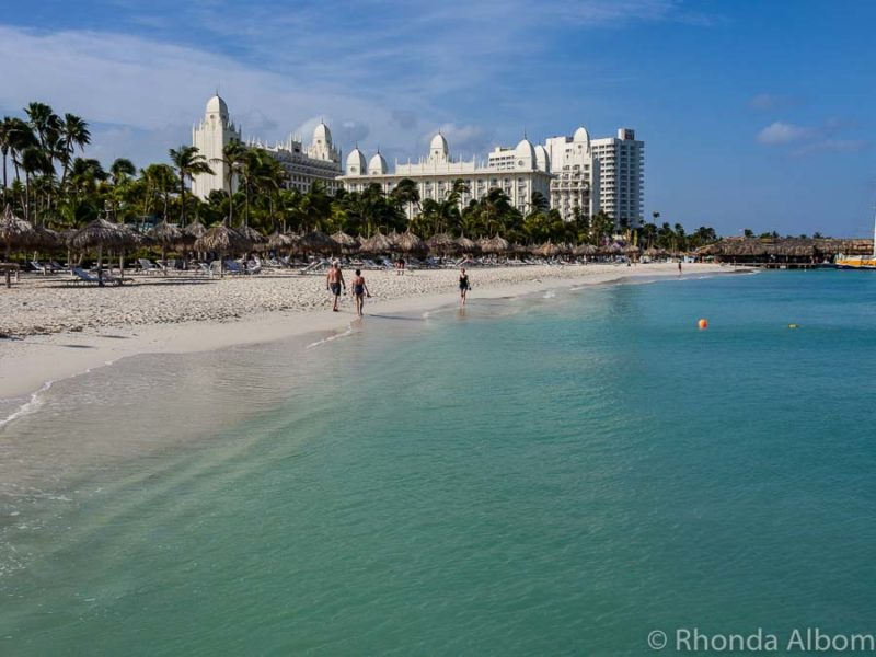 Palm Beach is one of the best beaches in Aruba near cruise port