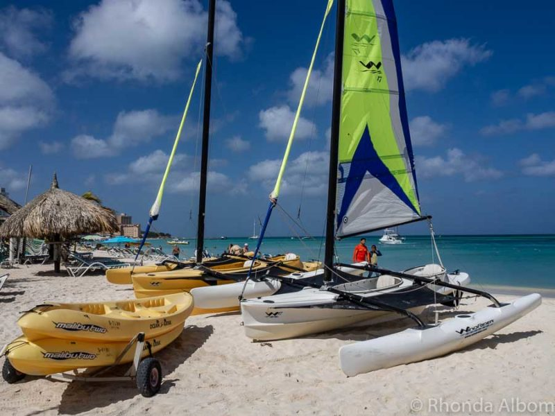 Water sport option on Palm Beach in Aruba