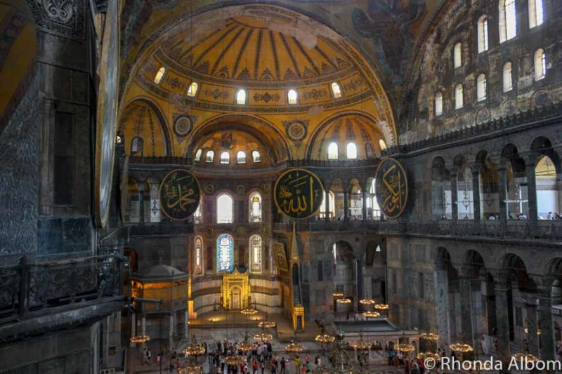 Visiting Hagia Sophia is one of the top things to do in Istanbul Turkey