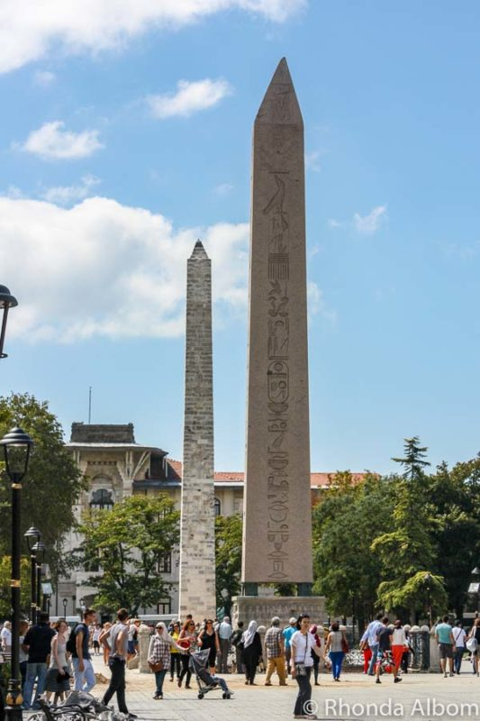 Obelisk of Theodosius on Hippodrome of Constantinople