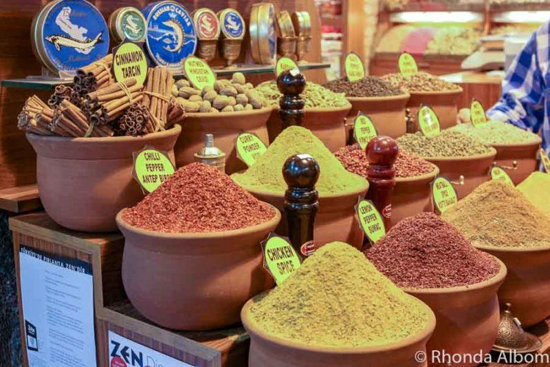 Spice Bazaar in Istanbul Turkey