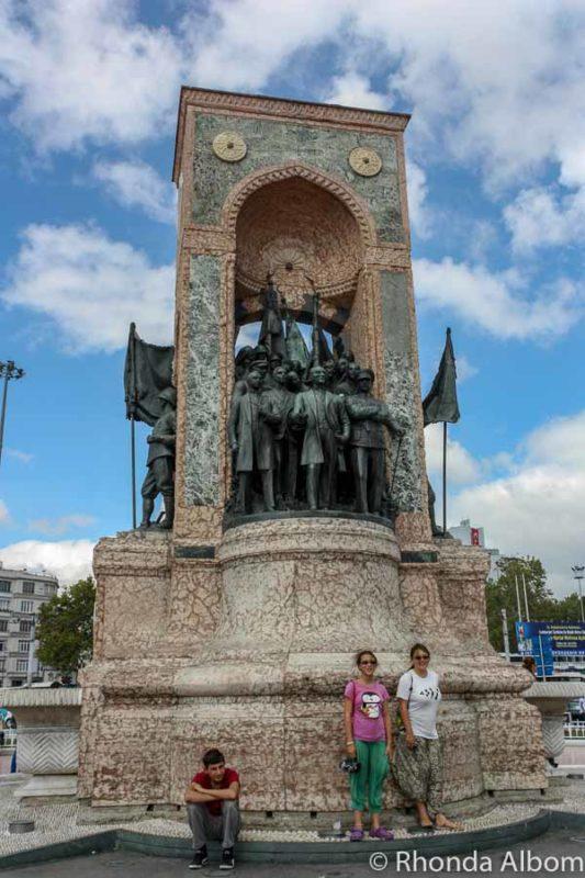 Republic Monument in Taksim Square in Istanbul