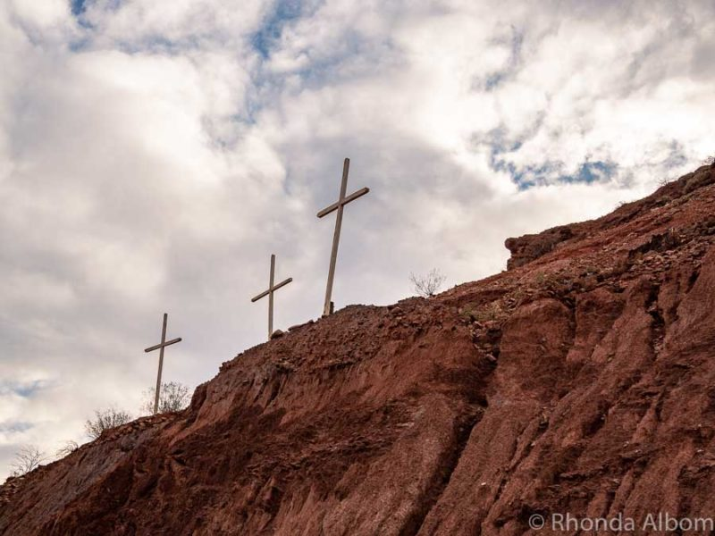 Tres Cruces between Cafayate and Salta Argentina