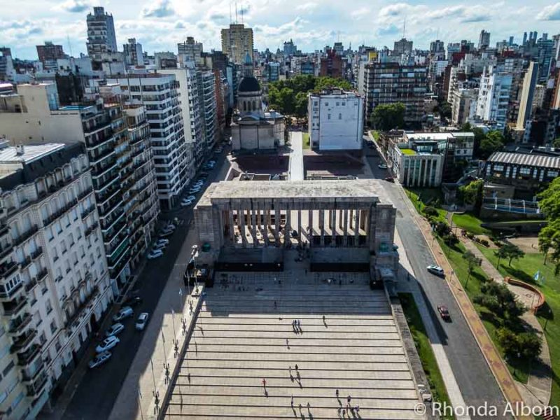 Views from the top of the National Monument of the Flag in Rosario is one of the highlights of Argentina