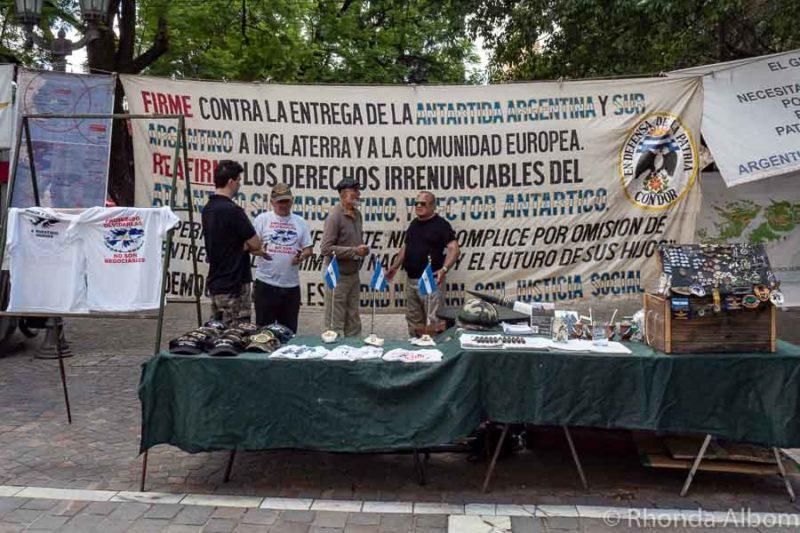 Protest about la Malvinas in Cordoba Argentina