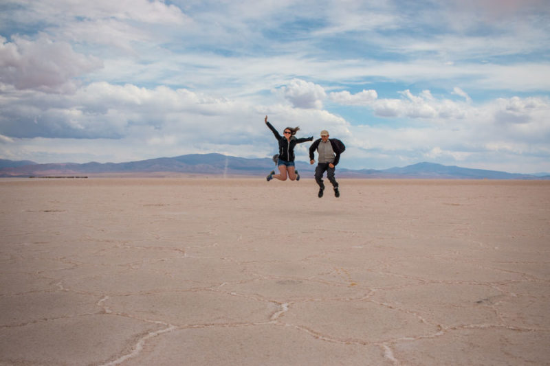 Salt flats in Purmamarca on our South America itinerary