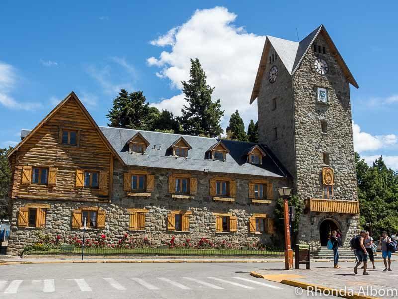 Swiss style buildings in Civic Center in San Carlos de Bariloche, Argentina