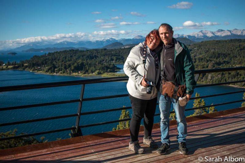 Jeff and Rhonda Albom on Cerro Campanario in Bariloche Argentina
