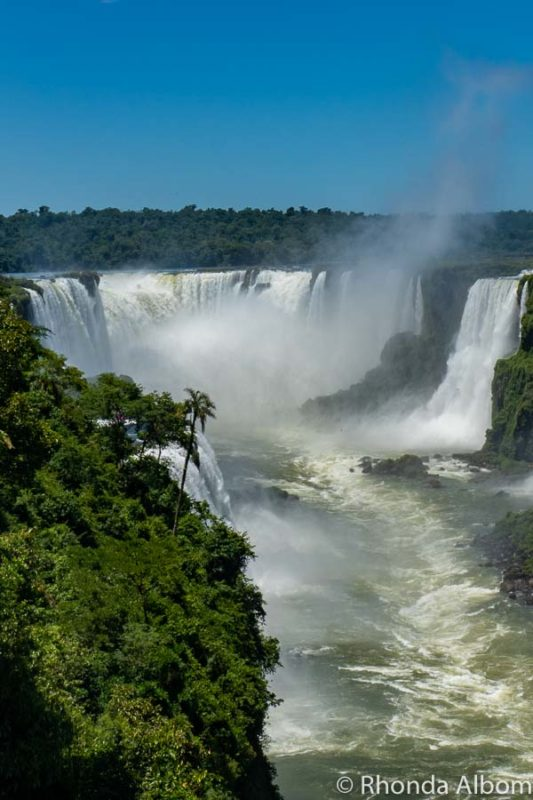 Iguazu Falls Park on the Brazil Side possibly where I got dengue fever