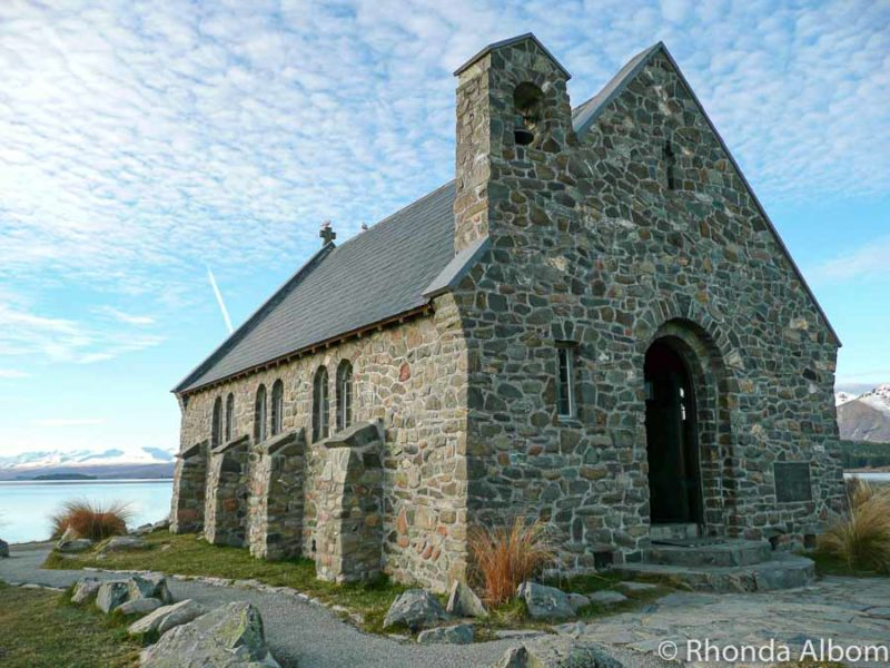 The Good Shepard Church along the shores of Lake Tekapo in New Zealand