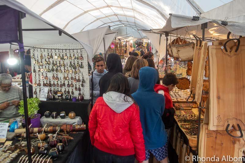 Feria de Artesanos Market in Bariloche Argentina