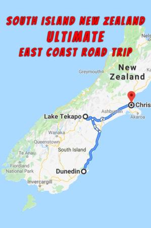 Road Map Of New Zealand South Island.South Island Road Trip Dunedin To Christchurch Nz Albom Adventures