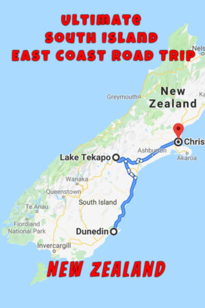 New Zealand South Island Road Trip from Dunedin to Christchurch