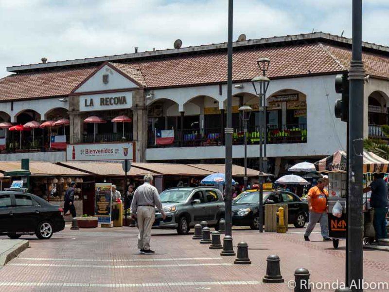 Approaching La Recova Market in La Serena Chile