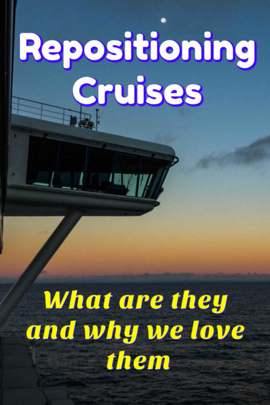 See why we love repositioning cruises