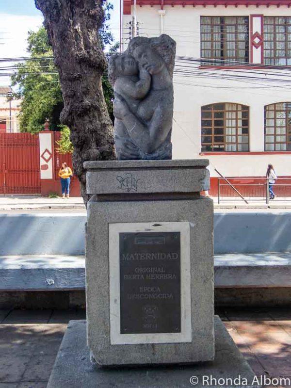 One of many statues along Avenue Francisco de Aguirre in La Serena Chile