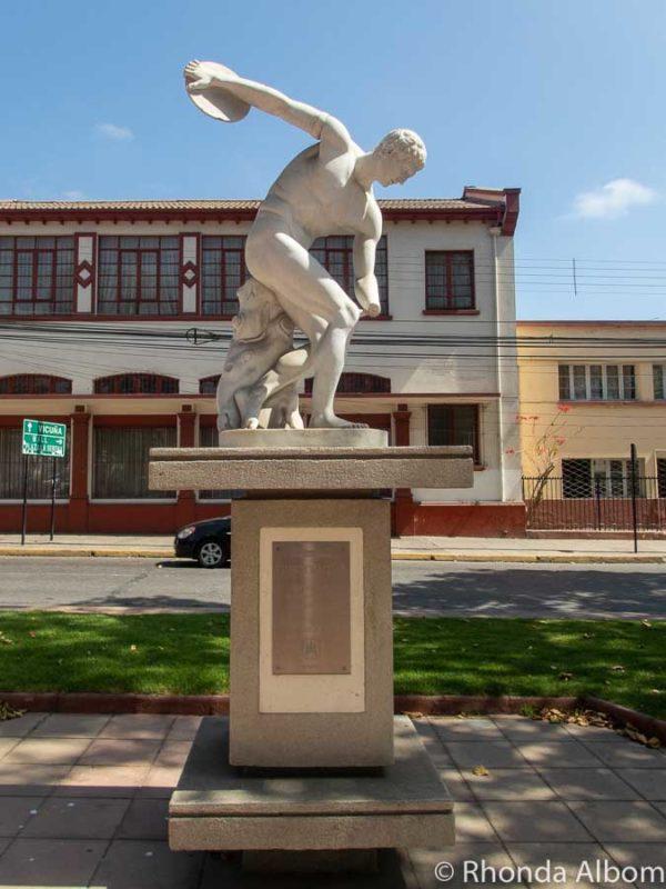 Statue along Avenue Francisco de Aguirre in La Serena Chile