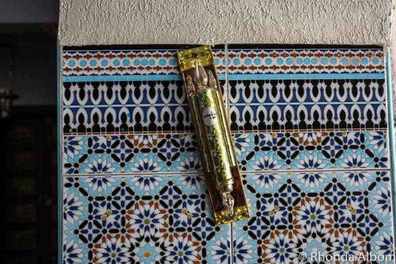 A mezuzah in Morocco