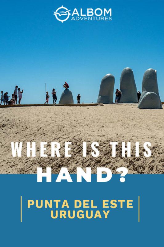 The hand in Punta del Este Uruguay