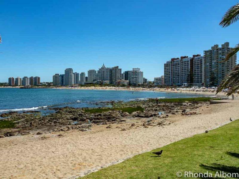 Mansa Beach on the river side of Punta del Este