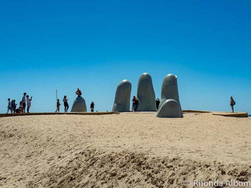La Mano Sculpture also called Los dedos or the Punta del Este hand.