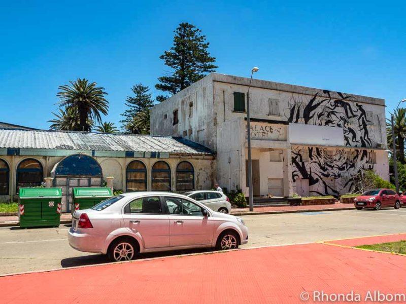 Original Palace Hotel now derelict in Uruguay