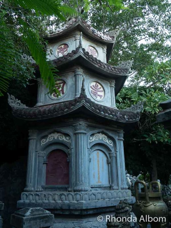 Smaller pagoda at Marble Mountain in Da Nang, Vietnam