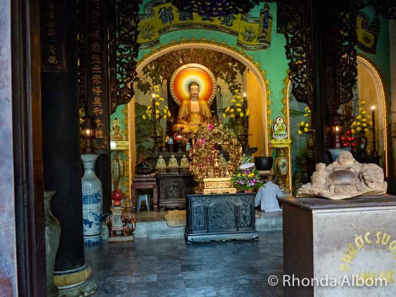 Inside Linh Ung Pagoda in central Vietnam