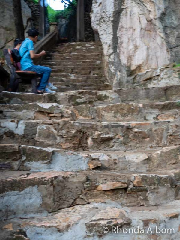 Stairs down from Marble mountains Da Nang, Vietnam
