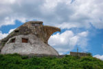 A stone house in shape of an eagle's head in Uruguay