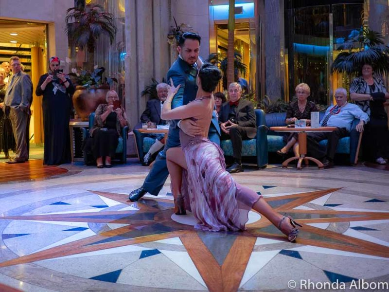 Watching tango dancers on a cruise holiday
