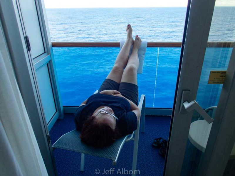 Rest and relaxation is one of several benefits of cruising