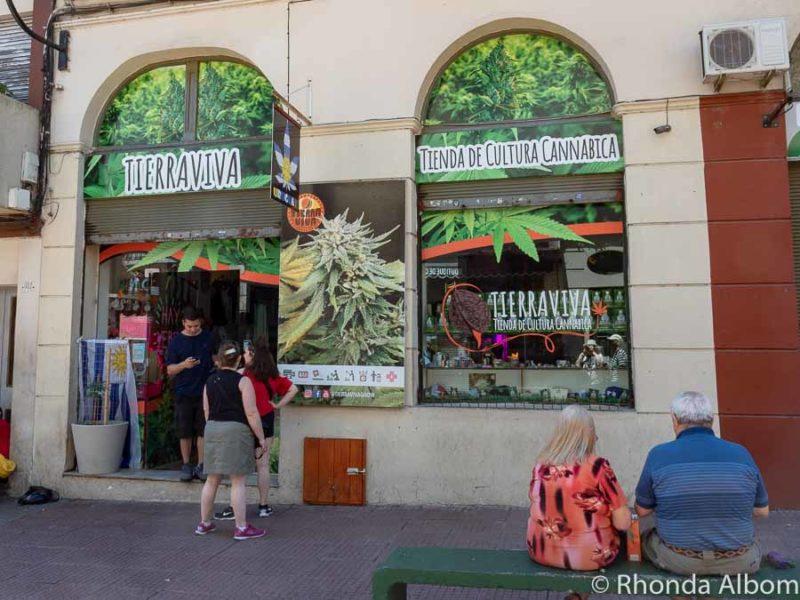 Cannabis shop in Montevideo Uruguay