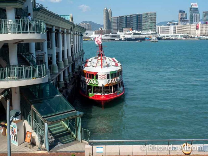 Star Ferry docked on Hong Kong Island