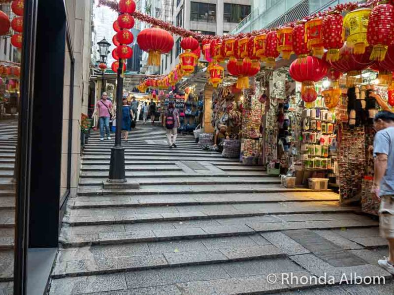 The graded steps on Chiu Lung Street gave it the nickname ladder street
