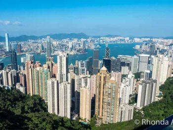 Views from Victoria peak in Hong Kong