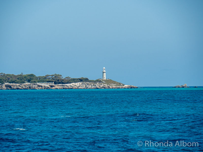 View of Rottnest Island from the Quokka 1, a ferry by Sealink
